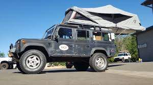 land rover 110 overland vehicle habitat at overland