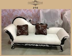 Large Chaise Lounge Sofa by Solid Wood Frame Throne Sofa Classical Sectional Sofa French