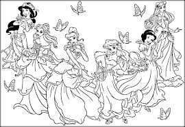 disney princess coloring pages print free color zini