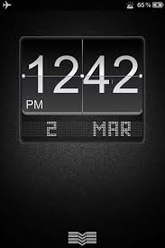 theme ls ls black big flip clock iphone 4s theme technology iphone themes