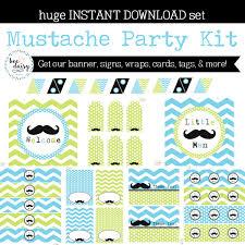 mustache birthday party mustache baby shower mustache