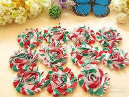 baby christmas hair flowers diy hair accessories shabby chiffon
