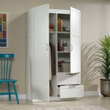 sauder select storage cabinet in white inspiring sauder select wardrobe storage cabinet 420495 sauder
