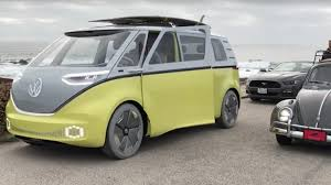 electric volkswagen van volkswagen u0027s microbus concept spotted in the wild