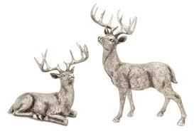 set of 2 decorative rustic deer figurines 12 5 20 2 styles