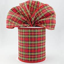christmas ribbon bows tartan plaid ribbon 4 wide x 10 yards christmas gr https