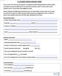 travel request form template template ideatravel request form