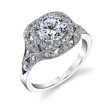 vintage halo engagement rings style s1211 vintage halo engagement ring this vintage