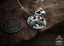 owl necklace silver images The silver shilling collection silver kissing owls necklace jpg