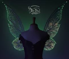 light up fairy wings made to order platinum edition light up fairy wings halloween