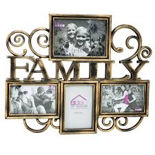 18 x 15 in black and gold family collage frame at home at home