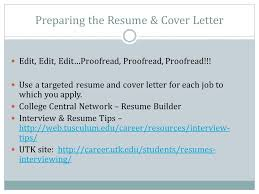 college central resume builder how to prepare for a career launch tusculum experience class