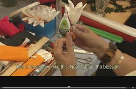 Paper Flowers Video - making paper flowers intangible cultural heritage of slovenia