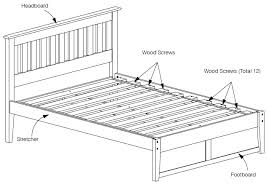 How To Assemble A Bed Frame Assembly Of Bed Rails Slats And E King
