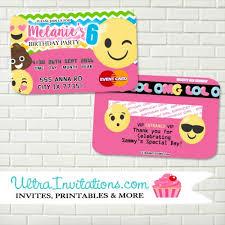 order now emoji credit card birthday party design unique tween