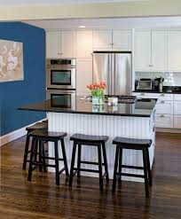 blue kitchen decorating ideas wonderful orange accents kitchen design with blue wall kitchen
