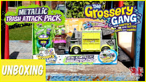 grossery gang metallic trash attack pack unboxing toys