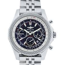 breitling bentley diamond breitling for bentley a25364 stainless steel black dial watch
