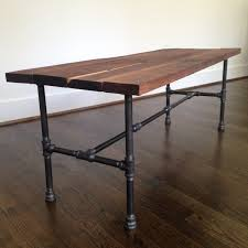 steel and wood table riverside coffee table reclaimed wood steel pipe coffee table