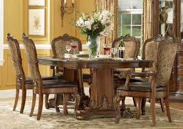 a r t old world 7 pc double pedestal dining set in cherry by