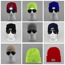 running hat with lights led light headl cap knit beanie hat for hunting cing running