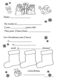 12 free esl father christmas worksheets