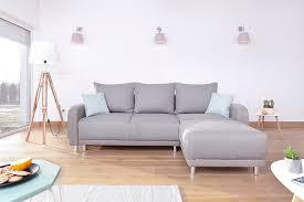 canape gris d angle minty réversible gris clair canapés et tables basses aménagement