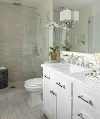 White Modern Bathrooms - modern white small bathroom design idea tile in shower picmia