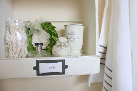 bathroom diy bathroom shelving ideas two tone floral pattern