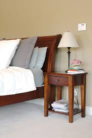small bed side tables with minimalist single drawer as storage and