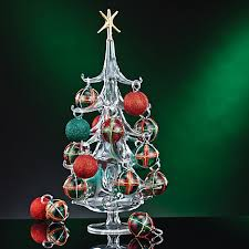 blown glass tree ornaments decor