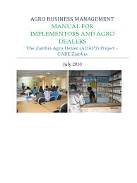 agro business management manual for implementors and agro dealers