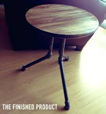 round industrial side table industrial side table industrial bedside table diy industrial pipe