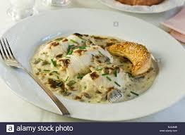 bonne cuisine sole bonne femme food stock photo 28848630 alamy