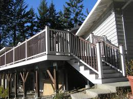 What Is A Banister On Stairs by Attaching Bottom Deck Posts Thisiscarpentry