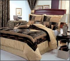 Leopard Bed Set 7 King Size Leopard Patchwork Comforter Set Safari Bedding