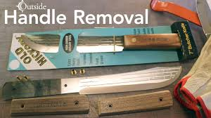 antique kitchen knives hickory handle removal tutorial