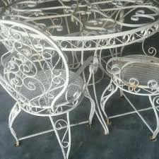 Metal Garden Chairs And Table White Wrought Iron Garden Set Wrought Iron Patio Set Ornate