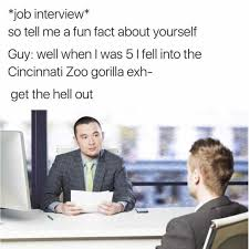 Job Interview Meme - remember the kid fell into harambe s pit he s grown up is going