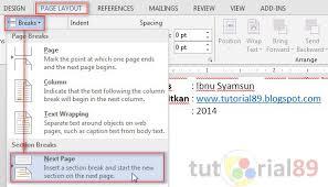 cara membuat nomor halaman yang berbeda di word 2013 cara membuat nomor halaman berbeda di word video tutorial89