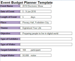 Event Budget Template Excel 7 Event Planning Budget Templates Excel Templates