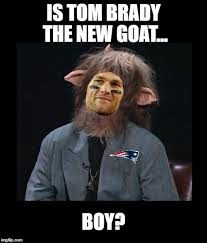 Tom Brady Funny Meme - everyone is calling brady the g o a t imgflip
