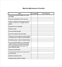 28 images of machine checklist template infovia net