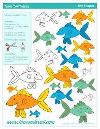 printable fish templates for kids preschool fish shapes