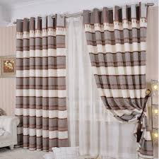 striped overstock clearance custom made beige and gray curtains