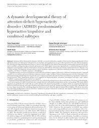 a dynamic developmental theory of adhd predominantly hyperactive