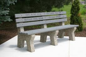 memorial benches eco friendly memorial benches doty and sons concrete products inc