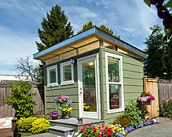 home office inspired limited living space solutions modern shed