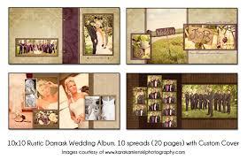 Rustic Wedding Albums Psd Wedding Album Template Rustic Damask 10x10 10spread 20