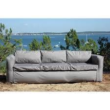 canape de jardin canapé de jardin 3 places gris gonflable nomad lounge